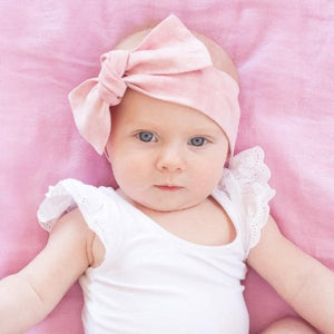 Pink Acid Wash Bow Knot Headband