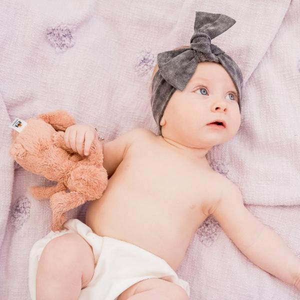 Black Acid Wash Bow Knot Headband