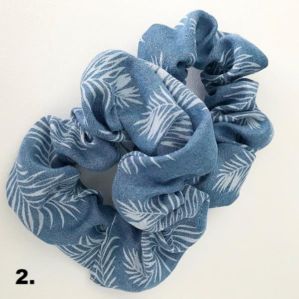 Shades of Blue Scrunchies