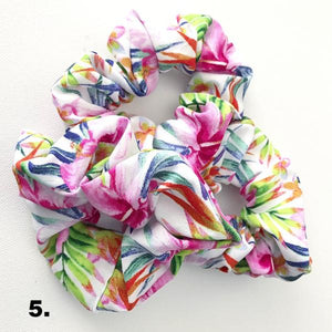 Tropical Print Scrunchies