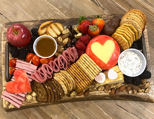 Valentine Meat and Cheese Charcuterie Board - PreOrder Only