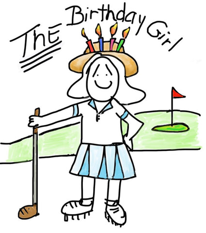 The Birthday girl ....golfing