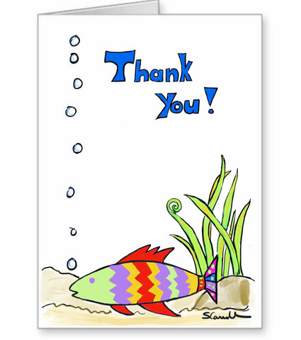 Thank you with fish