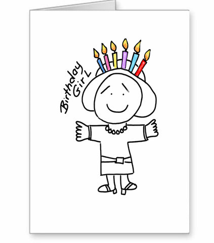 Happy Birthday card candle hat