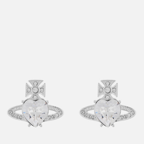 VIVIENNE WESTWOOD JEWELLERY ARIELLA EARRINGS RHODIUM/CRYSTAL