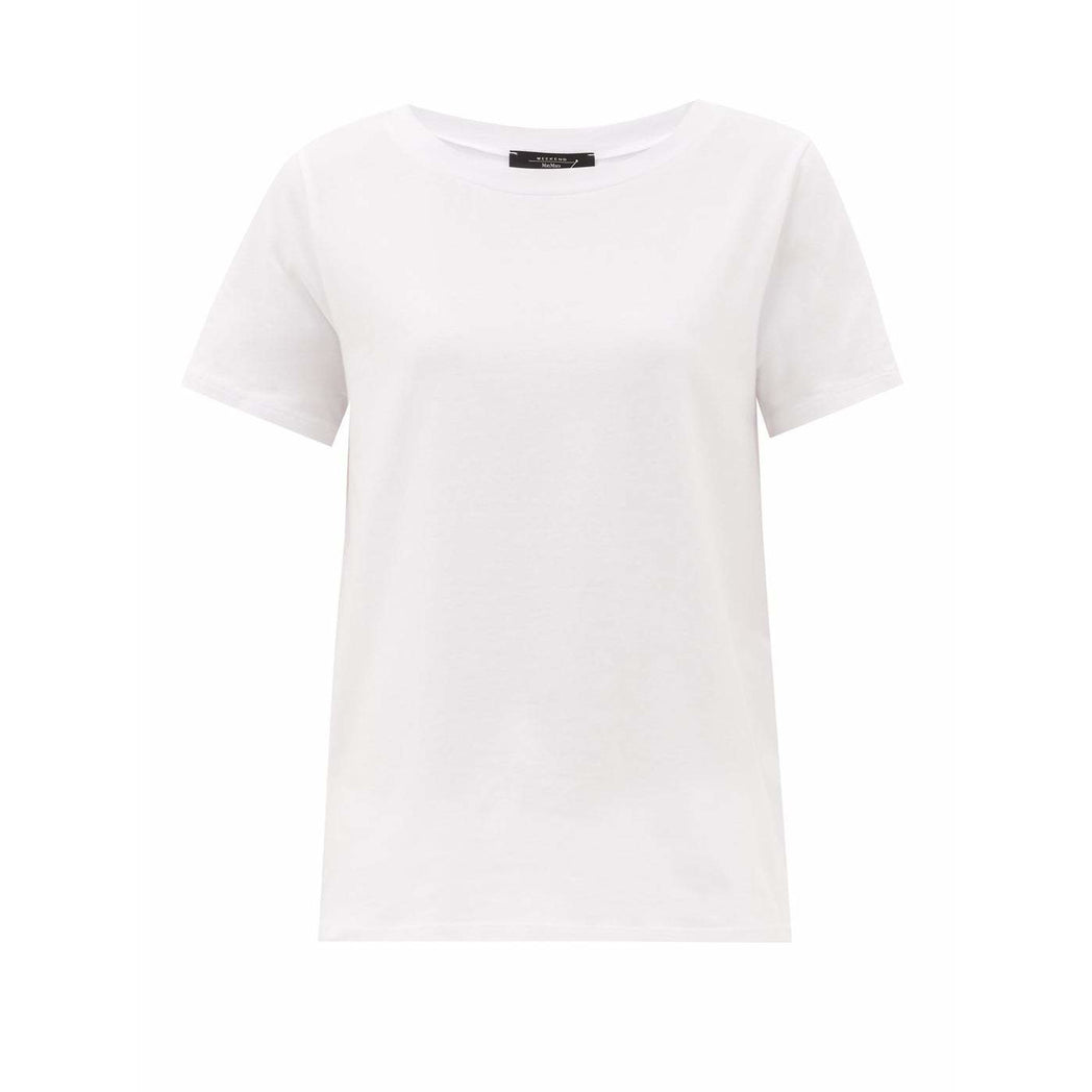 WEEKEND MAXMARA MULTIF COTTON MIX TSHIRT WHITE