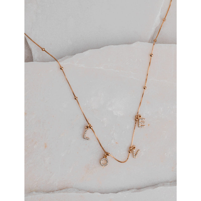 Belissa love necklace - gold