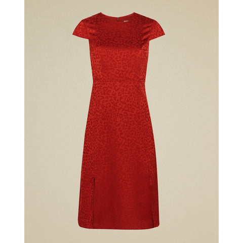 TED BAKER FILNIO LACE SLEEVE BODYCON DRESS OXBLOOD