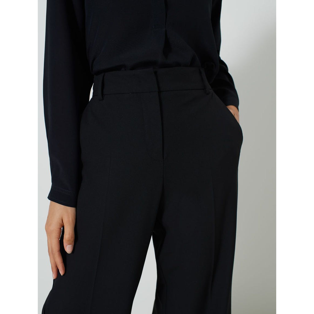 DALLAS SATIN EDGE TROUSERS BLACK