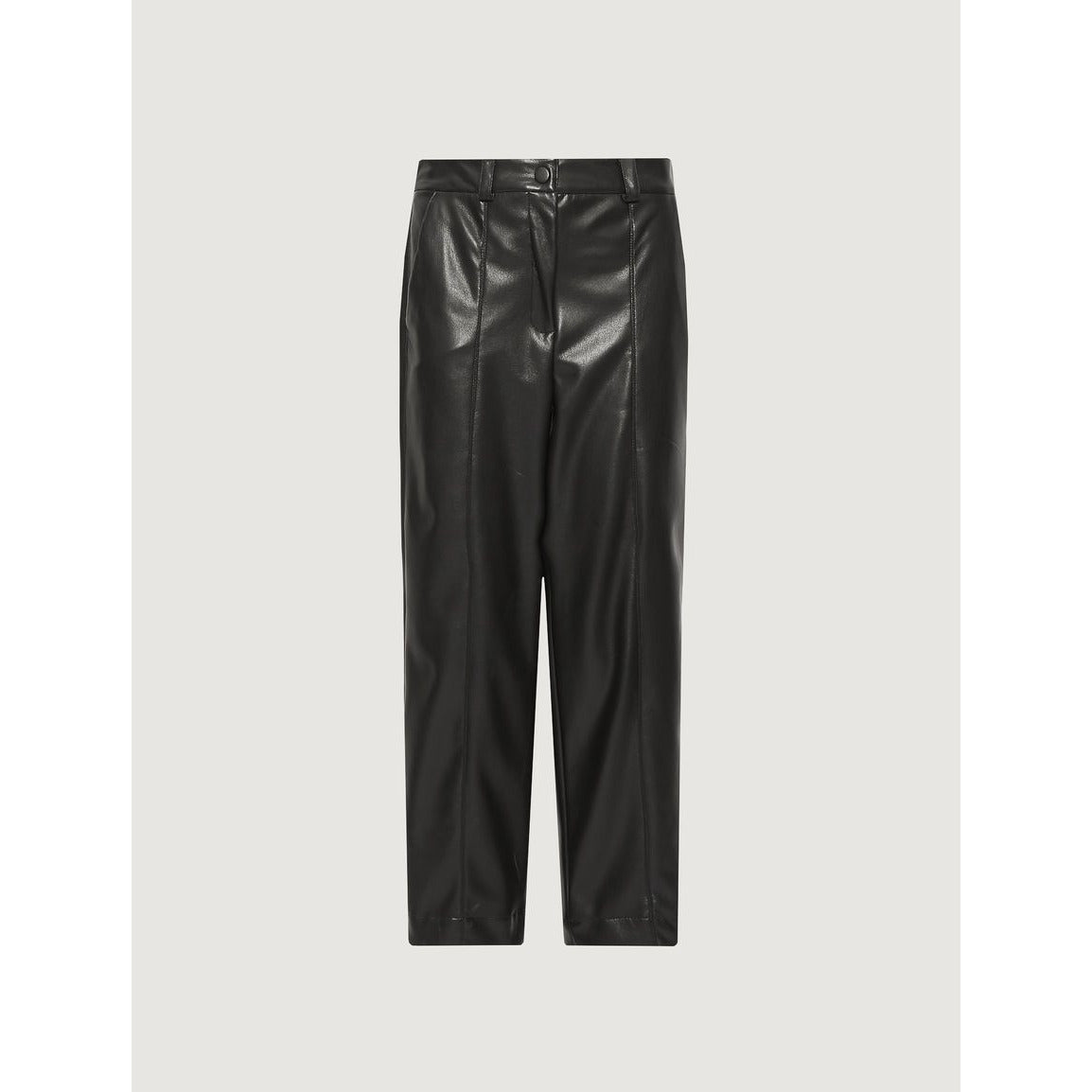 MARELLA MONICA CARROT LEG LEATHER LOOK TROUSERS BLACK