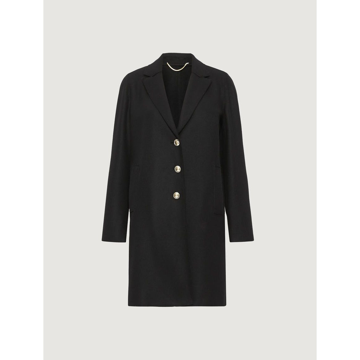 MARELLA ORVIETO WOOL MIX BUTTON FRONT COAT BLACK