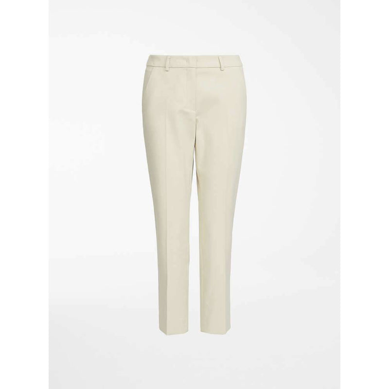 WEEKEND MAXMARA EZIO SLIM STRETCH CIGARETTE TROUSERS CREAM
