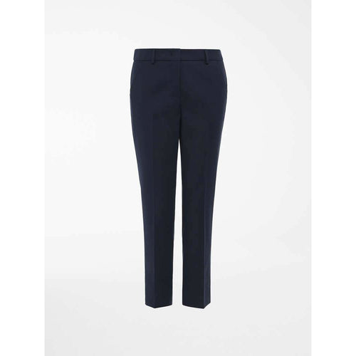 WEEKEND MAXMARA EZIO SLIM STRETCH CIGARETTE TROUSERS NAVY
