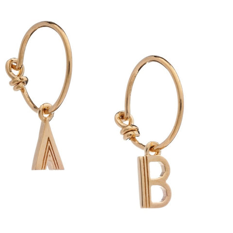 RACHEL JACKSON LONDON MEDIUM PUNK HOOPS GOLD PLATED