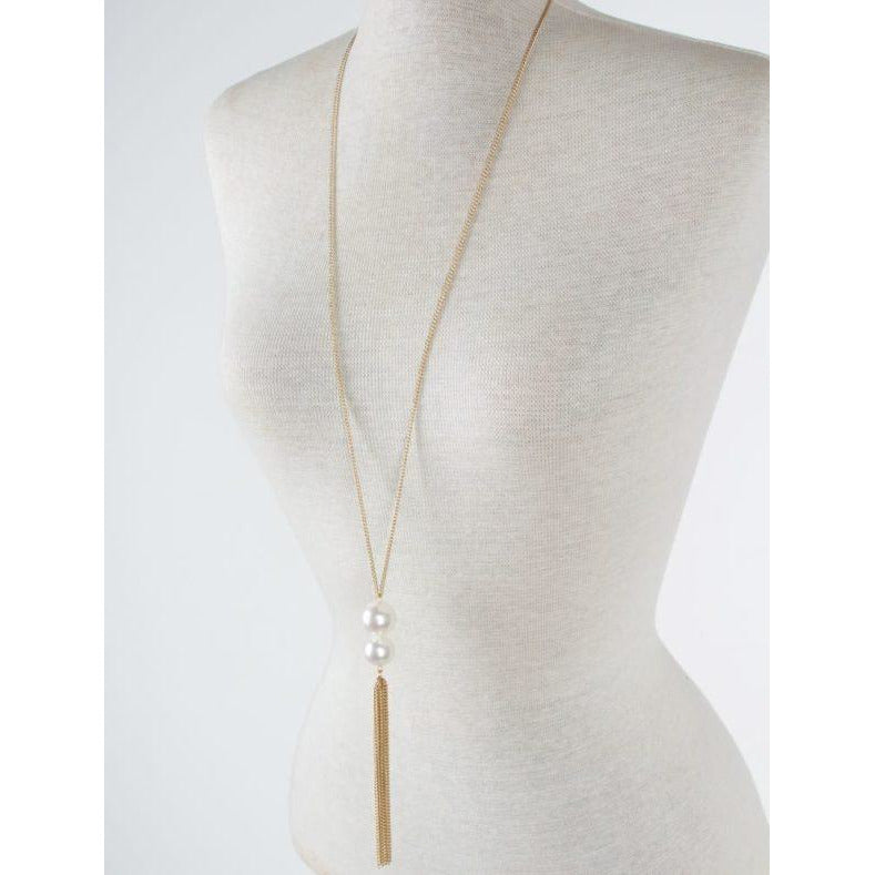 Charlotte necklace - gold pearl