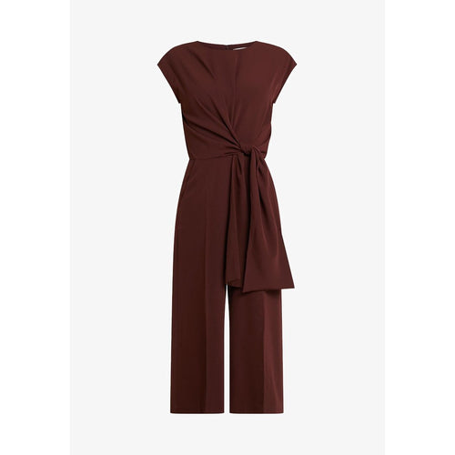 INWEAR ZHEN TIE WAIST JUMPSUIT CHOCOLATE BROWN