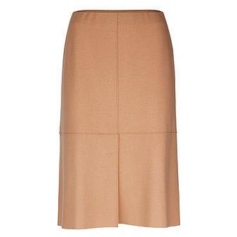 MARC CAIN SKIRT IN 100% WOOL JERSEY TAN