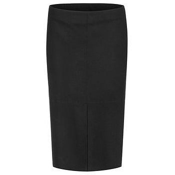 MARC CAIN 100% WOOL JERSEY SKIRT BLACK