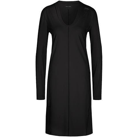MARC CAIN SPORTS STRETCH DRESS WITH FLOUNCE BLACK