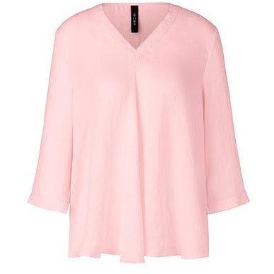 MARC CAIN SWINGING 3/4 SLEEVE LOOSE BLOUSE PINK