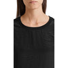 MARC CAIN JERSEY DETAIL FLOUNCE RUFFLE TOP BLACK