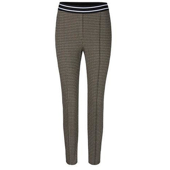 MARC CAIN CHECK STRETCH PANTS CREAM/BLACK