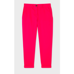 PS PAUL SMITH BOYFRIEND FIT STRETCH COTTON CHINO TROUSERS PINK