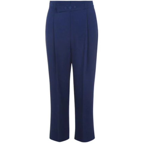 MARELLA FLAUTO WIDE LEG TROUSERS NAVY