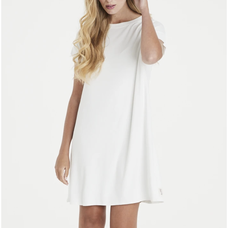 A POSTCARD FROM BRIGHTON TRICIA T-SHIRT DRESS CREAM