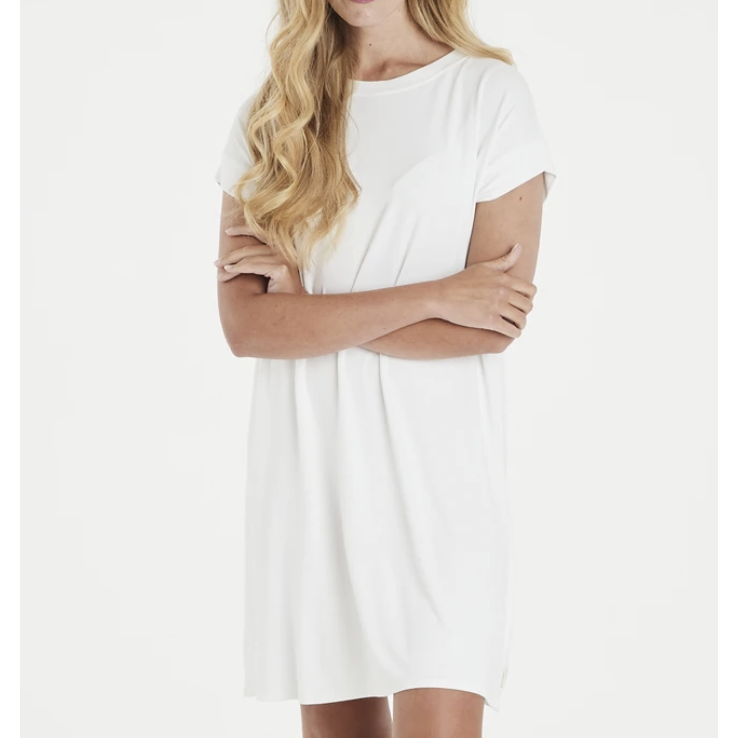 TRICIA T-SHIRT DRESS CREAM