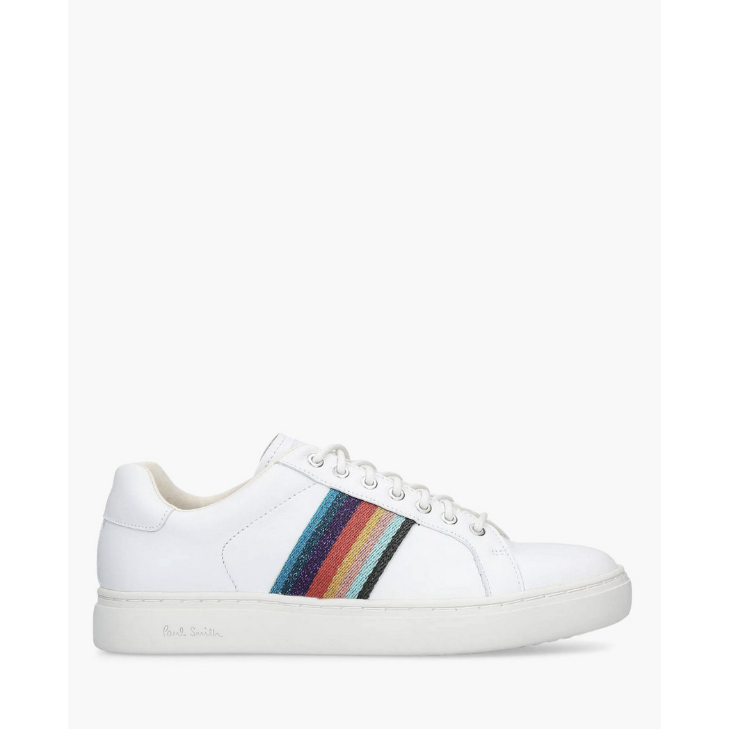 PS PAUL SMITH SHOES RAINBOW ARTIST STRIPE LAPIN SNEAKER WHITE