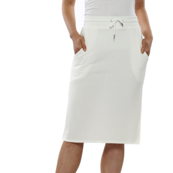 LAUREN LOP BACK SKIRT DAISY WHITE