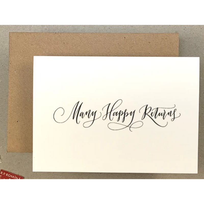 Many Happy Returns Greetings Card