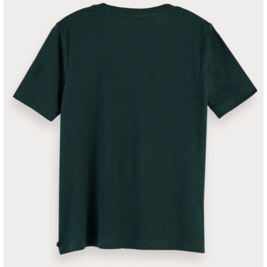 CREW NECK RECYCLED FABRIC TSHIRT LAGOON GREEN