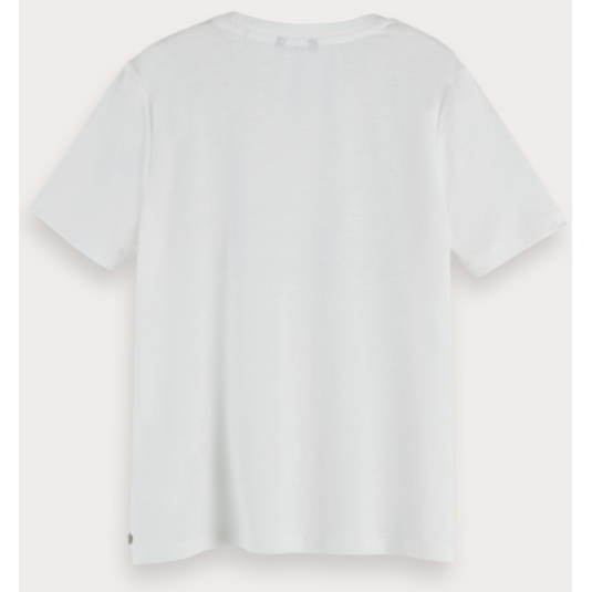 RECYCLED FABRIC T-SHIRT OFF WHITE