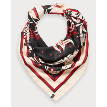 SCOTCH AND SODA OVERSIZED BANDANA PRINT SCARF PEACH