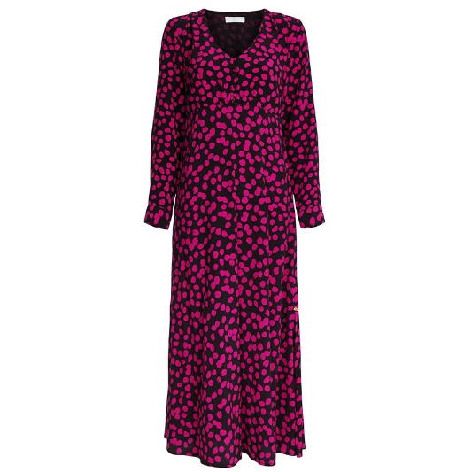 LEWIS DOLLY DOTS DRESS BLACK/PINK
