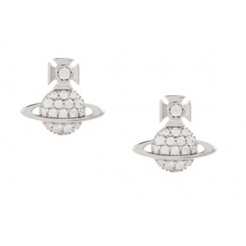 VIVIENNE WESTWOOD JEWELLERY TAMIA EARRINGS RHODIUM/CRYSTAL