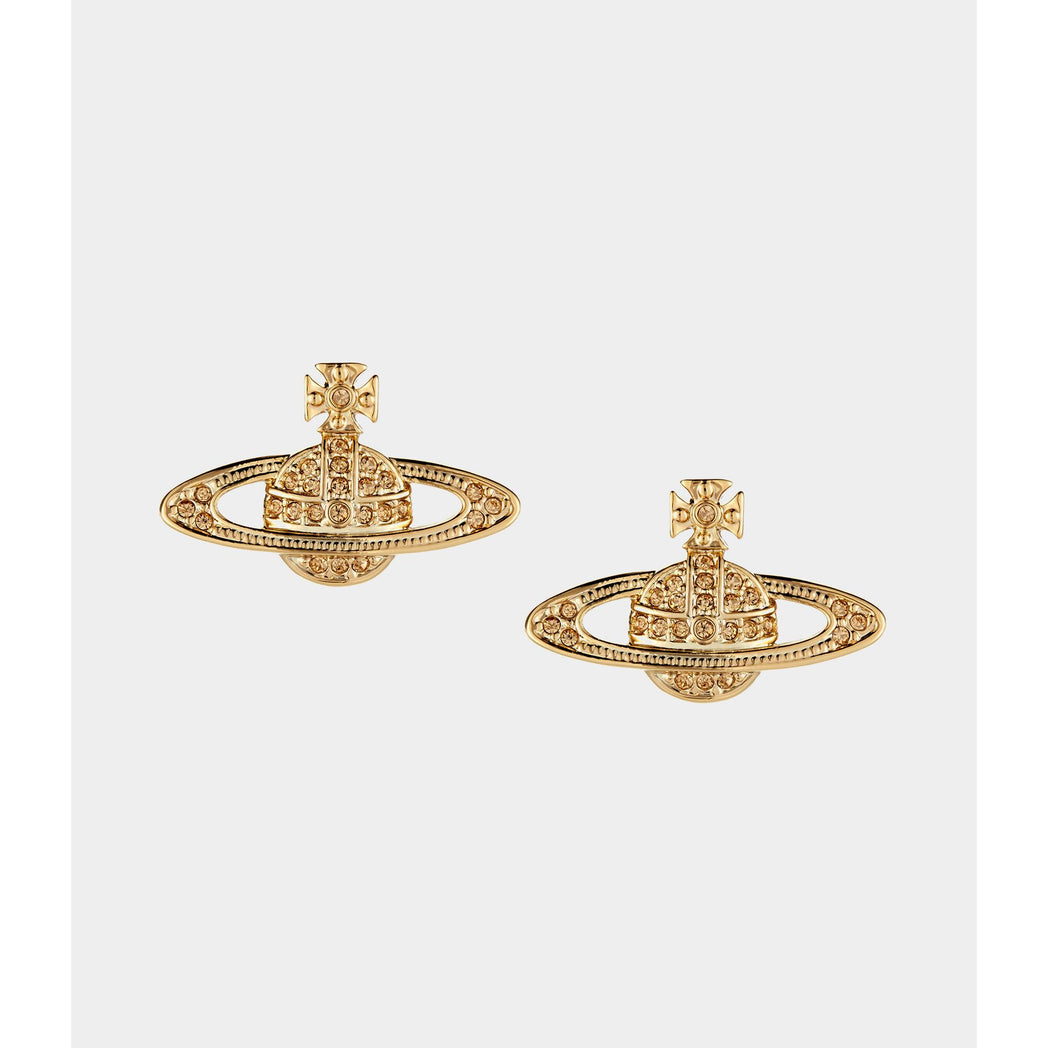 VIVIENNE WESTWOOD JEWELLERY MINI BAS RELIEF EARRINGS GOLD