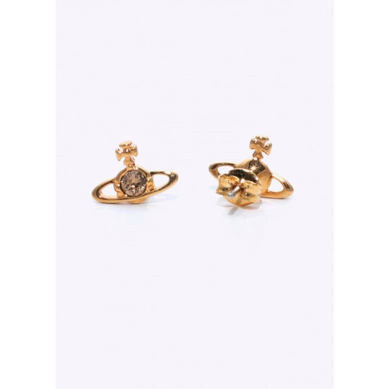 NANO SOLITAIRE EARRINGS GOLD