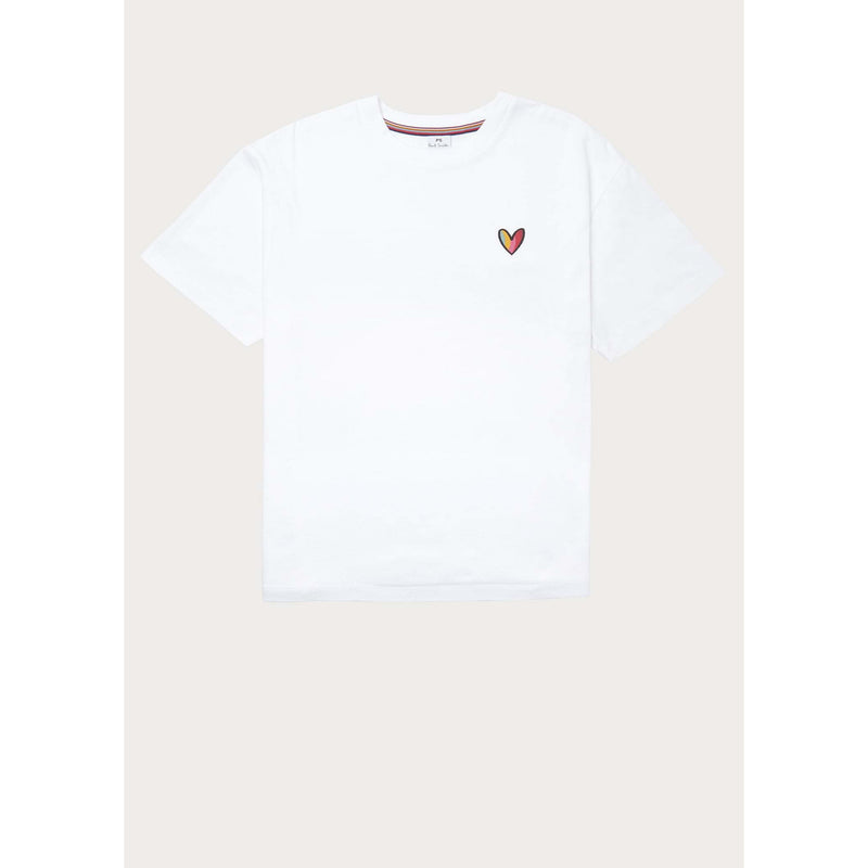 PS PAUL SMITH SWIRL HEART TEE WHITE