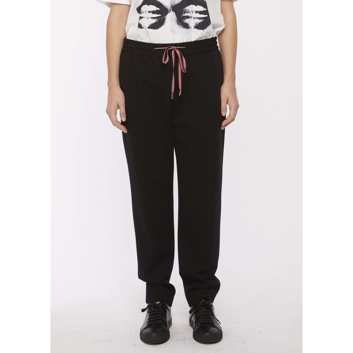 PS PAUL SMITH TAILORED SWEAT PANTS BLACK