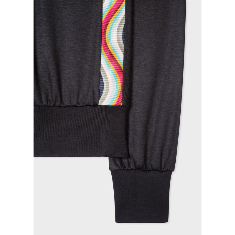 PS PAUL SMITH SWIRL RIBBON SIDE SWEATSHIRT BLACK