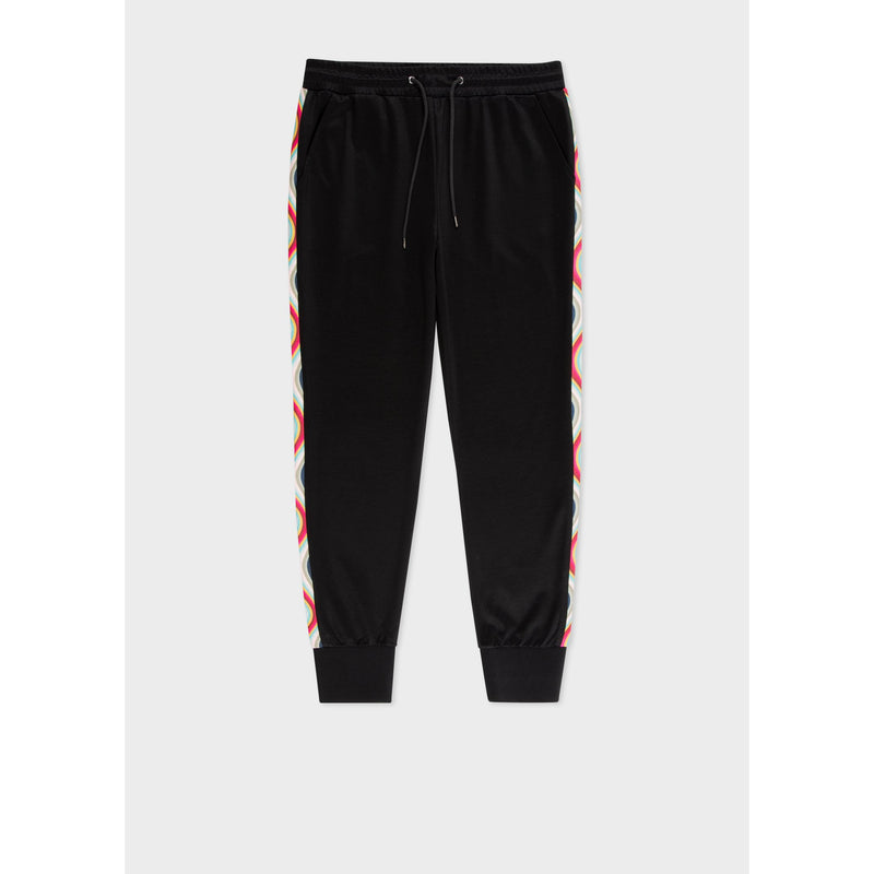 SWIRL SIDE SWEATPANTS BLACK