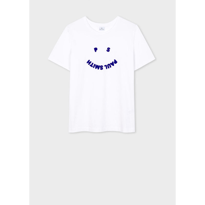 PS PAUL SMITH PRINTED PS FACE TEE WHITE