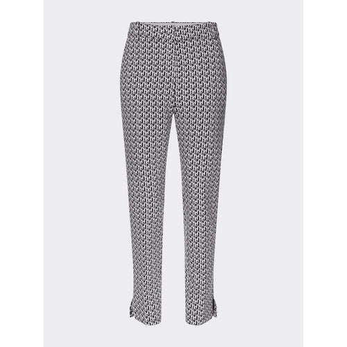TOMMY HILFIGER TEDI SLIM ANKLE LENGTH PANTS BLACK/WHITE