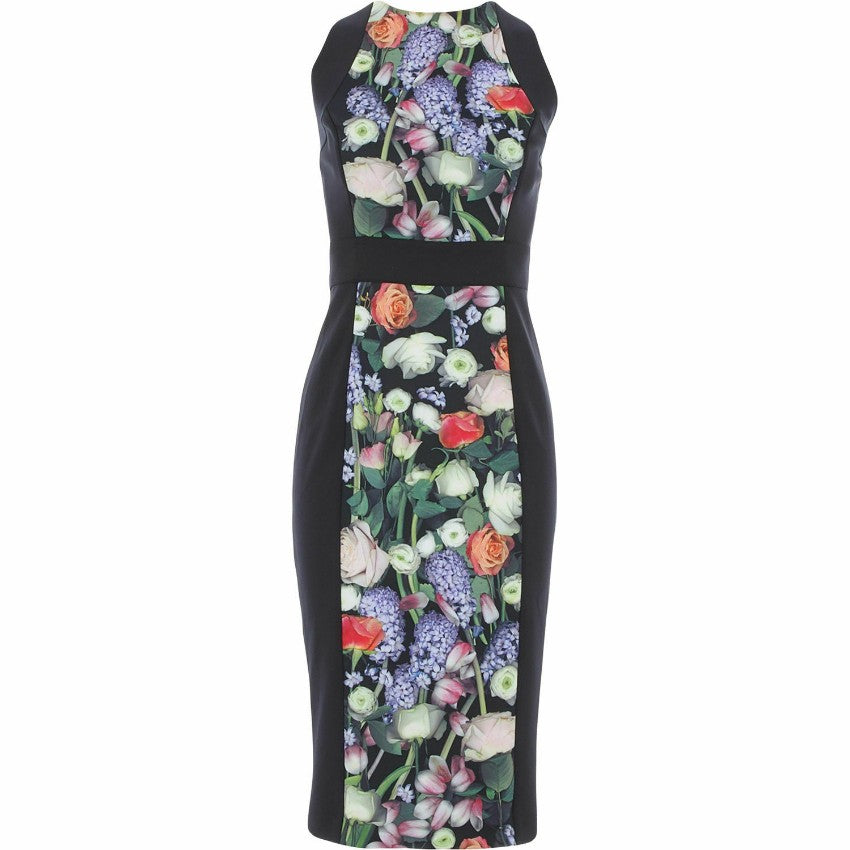 TED BAKER AKVA KENSINGTON FLORAL BODYCON DRESS