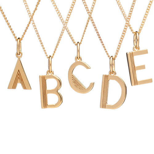 RACHEL JACKSON LONDON GOLD PLATED 'THIS IS ME' INITIAL NECKLACE