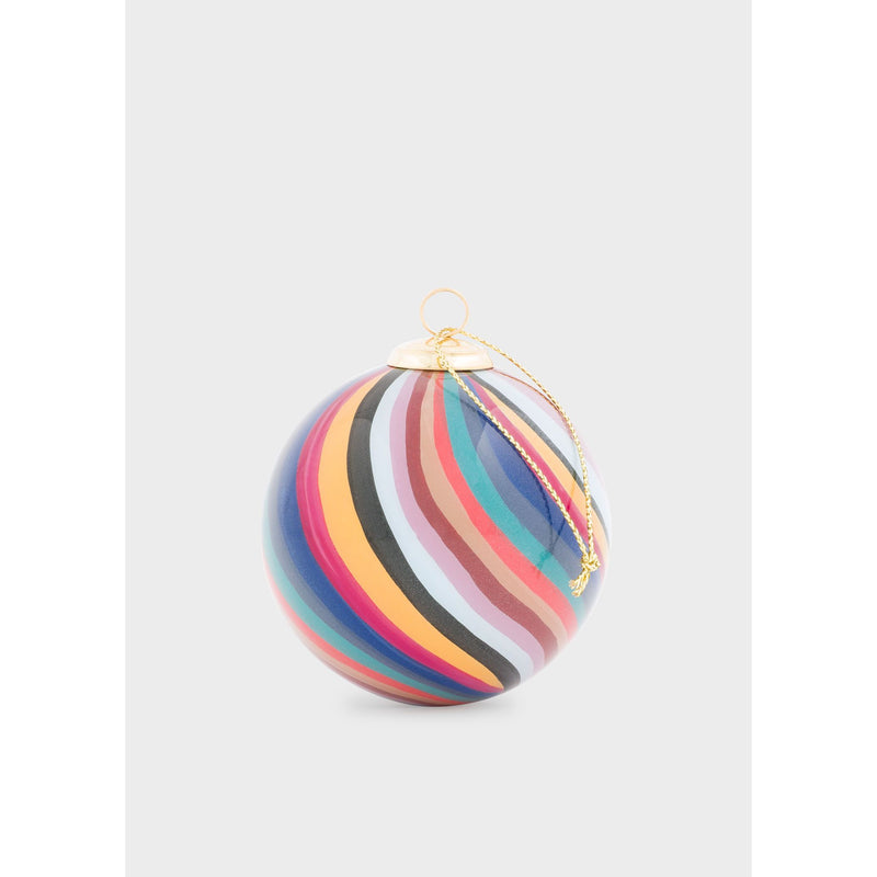 HAND PAINTED BAUBLE SWIRL DESIGN