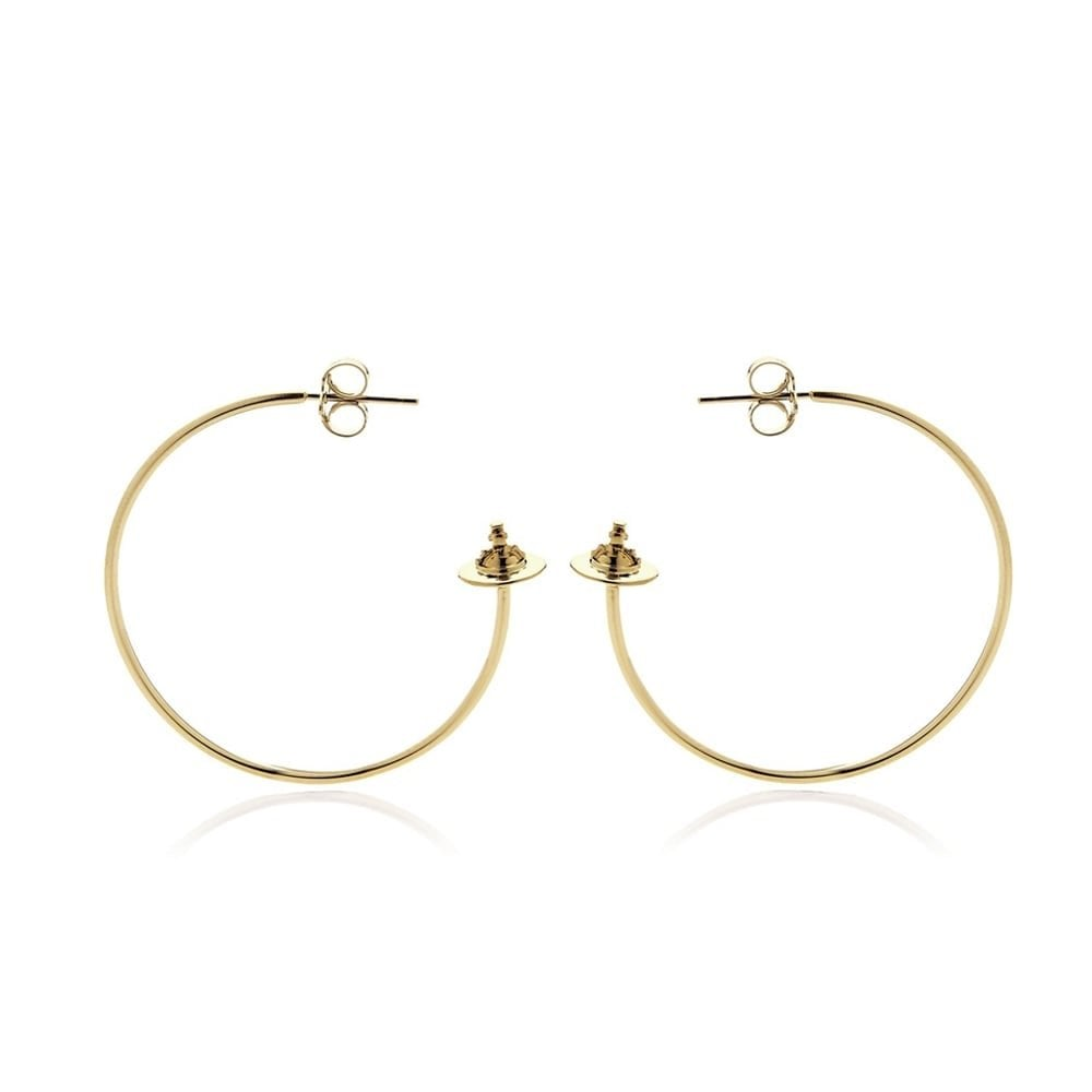 VIVIENNE WESTWOOD JEWELLERY ROSEMARY MEDIUM EARRINGS GOLD